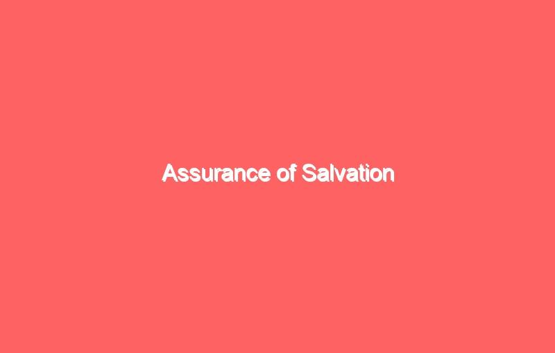 assurance of salvation 503