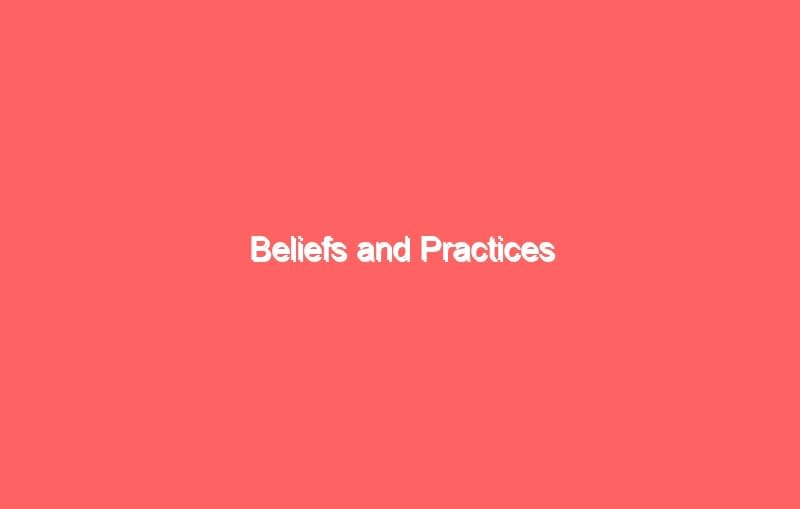 beliefs and practices 3758
