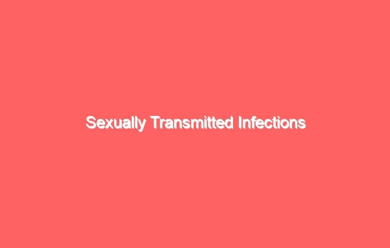 sexually transmitted infections 4331