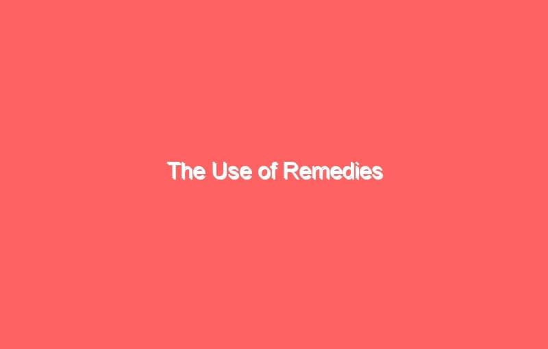 the use of remedies 7019