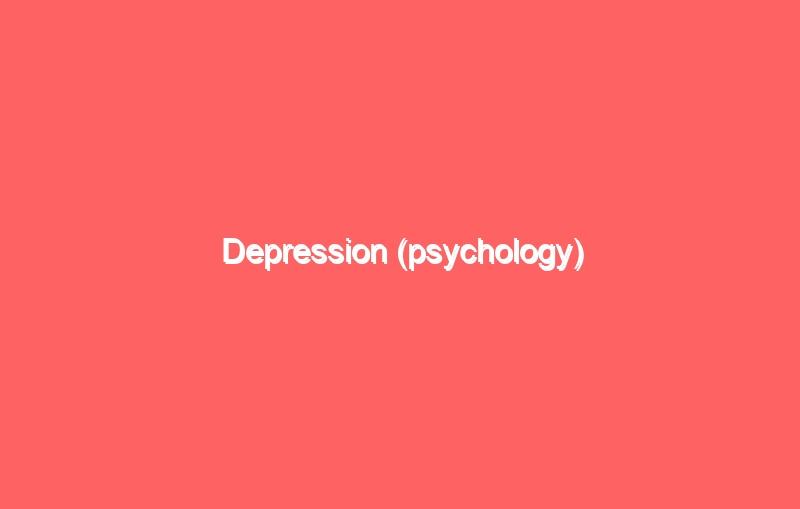 depression psychology 4204