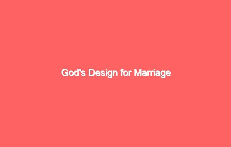 gods design for marriage 2602
