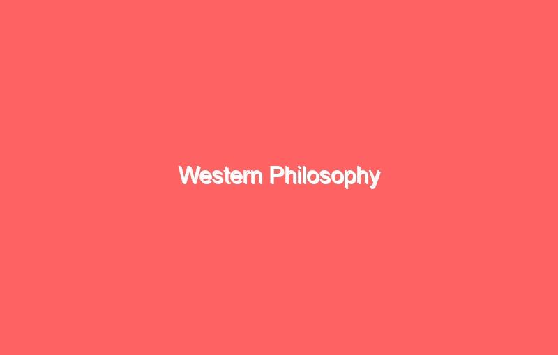 western philosophy 4101