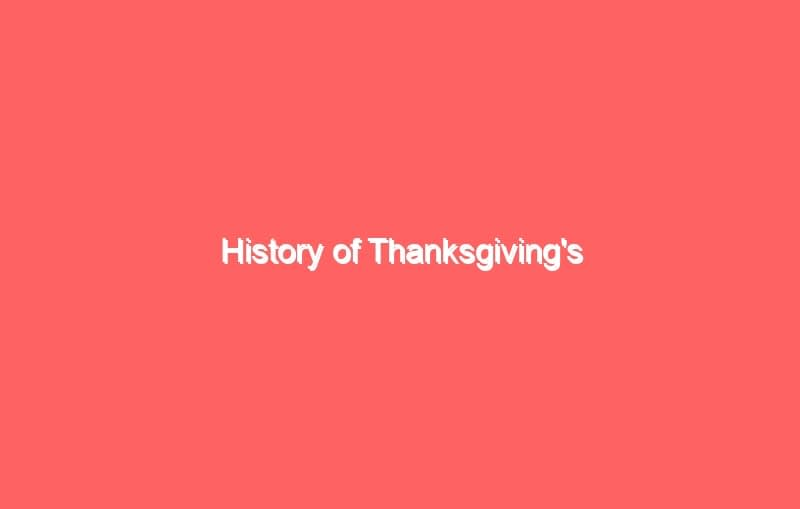history of thanksgivings 3751