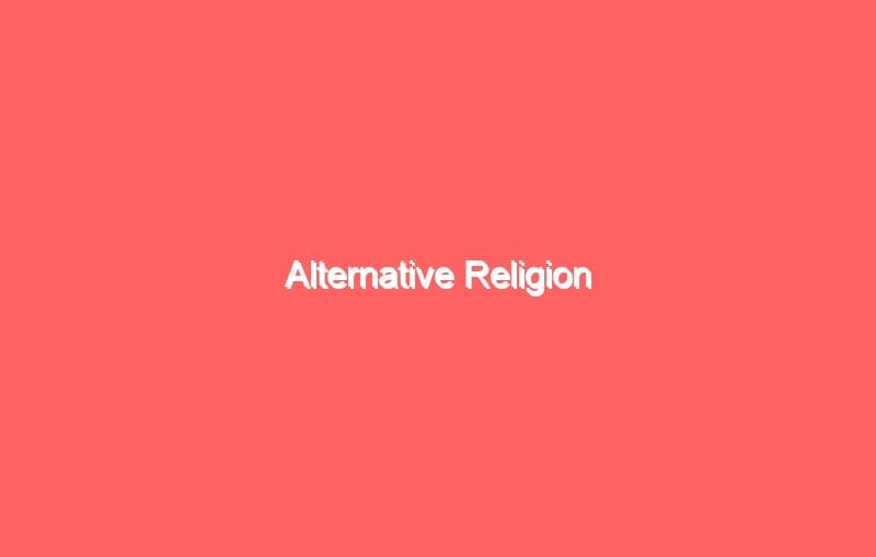 alternative religion 4157